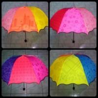 Jual Payung Pelangi 3D Magic umbrella rainbow 3 Dimensi motif bunga Korea Murah