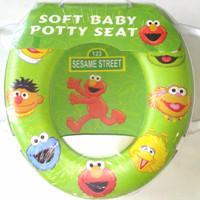 Jual Soft Baby Potty Seat With Handle Karakter Elmo -Toilet Training Murah