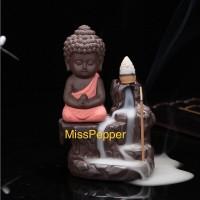 Backflow Incense Burner Little Monk / pembakar dupa biksu