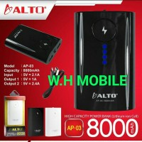 Power Bank 8000 Mah Original ALTO Dubel Powet Real Capacity