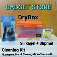 Paket Dry Box kamera DSLR dan cleaning kit set termasuk Silica gel