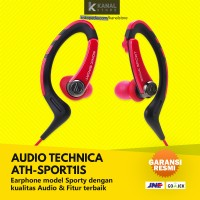 AUDIO TECHNICA ATH SPORT1iS Red Original Earphone with Mic Headset