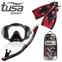 TUSA Mask+snorkel+Fin Visio Tri-ex Adult Combo UP-3521QB MDR Diving
