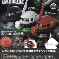 Gundam Zaku Head #2 - set of 3 pcs