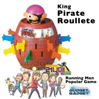 Jual King Pirate Roulette Game Lucky Barrel with Coin Bank Money Box Murah