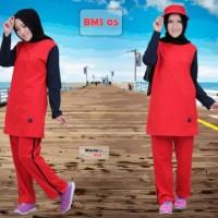 Pakaian Kaos Olahraga Wanita Lengan Panjang Baju Muslim Sport (BMS) 05