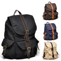 Jual Bonjour Adrien - Tas Ransel Backpack Laptop Canvas Vintage Branded Murah