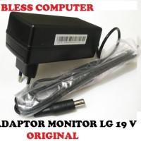 Jual ADAPTOR CHARGER  MONITOR LCD LED TV LG merek LG 19V ORIGINAL  Murah