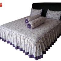SORAYA Bedsheet - Sprei Rimpel Romantic Garden Ungu