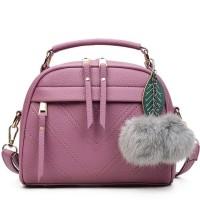 Jual  V Style Mini Hand Bag Korea Import HB771- Purple  Murah