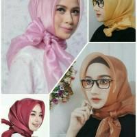 Jilbab Segiempat Kaca/Bening/Transparan/Organza