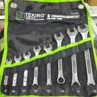 Jual KUNCI RING PAS TEKIRO SET 8 PCS / COMBINATION WRENCH TEKIRO 8PCS Murah