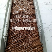 Jual Fudgy Brownies Topping Nutella - Chocomaltine Murah