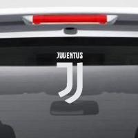 Stiker Bola Logo New Juventus Sticker Mobil Siluet Lambang Juve Baru