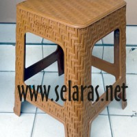 Jual Kursi Baso Plastik Anyaman Bambu warna Jati Napolly 3B3 Murah