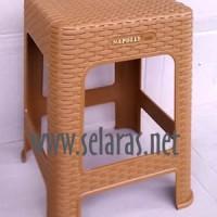 Jual Kursi Baso/ Cafe/Warung/Outdoor Plastik Anyaman Rotan Napolly 3R3 Jati Murah