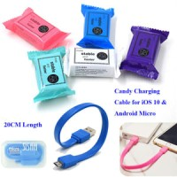 Kabel Candy Usb Micro Powerbank 20Cm Cable Power Bank 20 Cm PERMEN