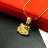 Jual (Murah) Kalung Liontin Titanium Anak Hello Kitty HK1614G Murah