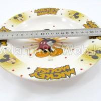 (Murah) Piring Melamin Karakter Mickey Mouse 3 - Golden Dragon