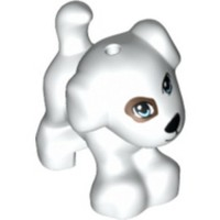 Jual LEGO 11806 - 6017039 - WHITE DOG STANDING WITH BRIGHT LIGHT BLUE EYES Murah