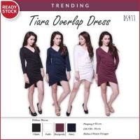 Jual Tiara Overlap Bodycon Dress Gaun Pakaian Wanita DS911 Murah
