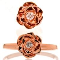 Jual Tiaria Resplendent Rose Jewelry Set Perhiasan Cincin Liontin Emas 9K Murah