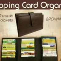 Jual Shopping Card Organizer / Dompet Kartu isi 30 slot + 4 pocket Murah