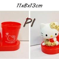 Jual Kitty Leopard Red Apple Toothbrush Holder (ORI JAPAN) Murah