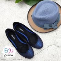 Jual harga promo Cathine Sofia Blue Sepatu Wanita Flat Murah