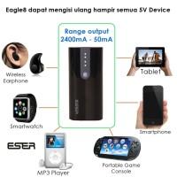 Jual Eser Eagle8 6200mAh powerbank earphone, Hp, tablet & 5V device (62BT) Murah