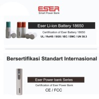Jual Eser Baterai Bisa Diganti 70gr powerbank 6200mAh 1.2A output (LU62TW) Murah