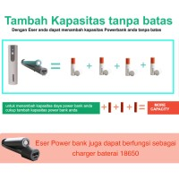 Jual Eser Baterai Bisa Diganti 70g powerbank 3100mAh 1.2A output (LU31SW) Murah