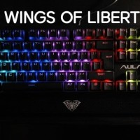 Jual AULA WINGS OF LIBERTY RGB MECHANICAL KEYBOARD GAMING - Garansi 1 Tahun Murah