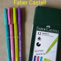 Jual ATK0113FC Bolpoin Tripen Faber Castel 0.7mm 54709912 Tinta Hitam Murah