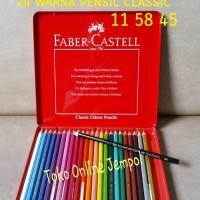 Jual ATK0111FC 24 warna Kaleng Classic Pencils 115845 Faber Castell pensil Murah