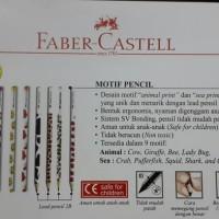 Jual ATK0114FC Motif Pensil 2B NonToxic Aman ORIGINAL Faber Castell pencil Murah
