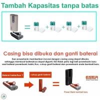 Jual Eser 18650 Charger + Power Bank   fast charging battery powerbank Murah