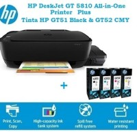 Printer HP DeskJet GT 5810 [GT5810] plus Tinta HP GT51 HP GT52 InkTank