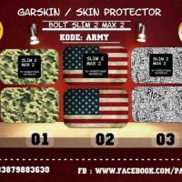 Jual (Murah) Garskin bolt slim 2 & Max 2 army.