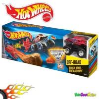 Hot Wheels Monster Jam Brick Wall Breakdown Track Set Ori Mattel