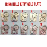 Jual iRing Ring Phone Holder Hello Kitty Gold Plate Murah