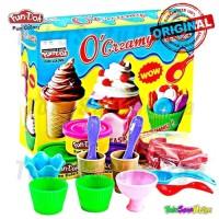 Jual Mainan Edukasi Lilin Fun Doh O Creamy Es Cetakan + Lilin | Playdough Murah