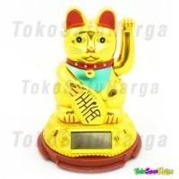 Jual Pajangan Kucing Hoki Pemanggil Rezeki Maneki Neko Tenaga Surya Murah