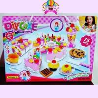 Mainan Anak DIY Fruit Cake Kue Lampu Lagu Ulang Tahun Potong B
