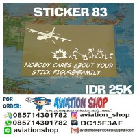 STICKER JILID 22 NOBODY CARES ABOUT YOUR STICK FAMILY FIGURE
