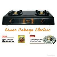 SNI Paket Hemat Kompor 2 Tungku Rinnai RI 522 C + Selang Winn Gas /