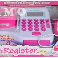 Set Mainan Kasir Cash Mini Market Supermarket Lengkap Timbangan Pink