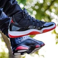 Jual Nike Jordan Retro 11 Bred Premium Original / sepatu nike / sneakers Murah