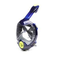 Masker Snorkeling Full Face Dry Snorkeling Mask 4th Gen - NAVY S/M