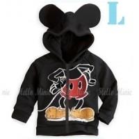 Jual SALE Jaket Anak Cowok Laki laki HM 26 Mickey Mouse Hitam Hoodie Capuc Murah